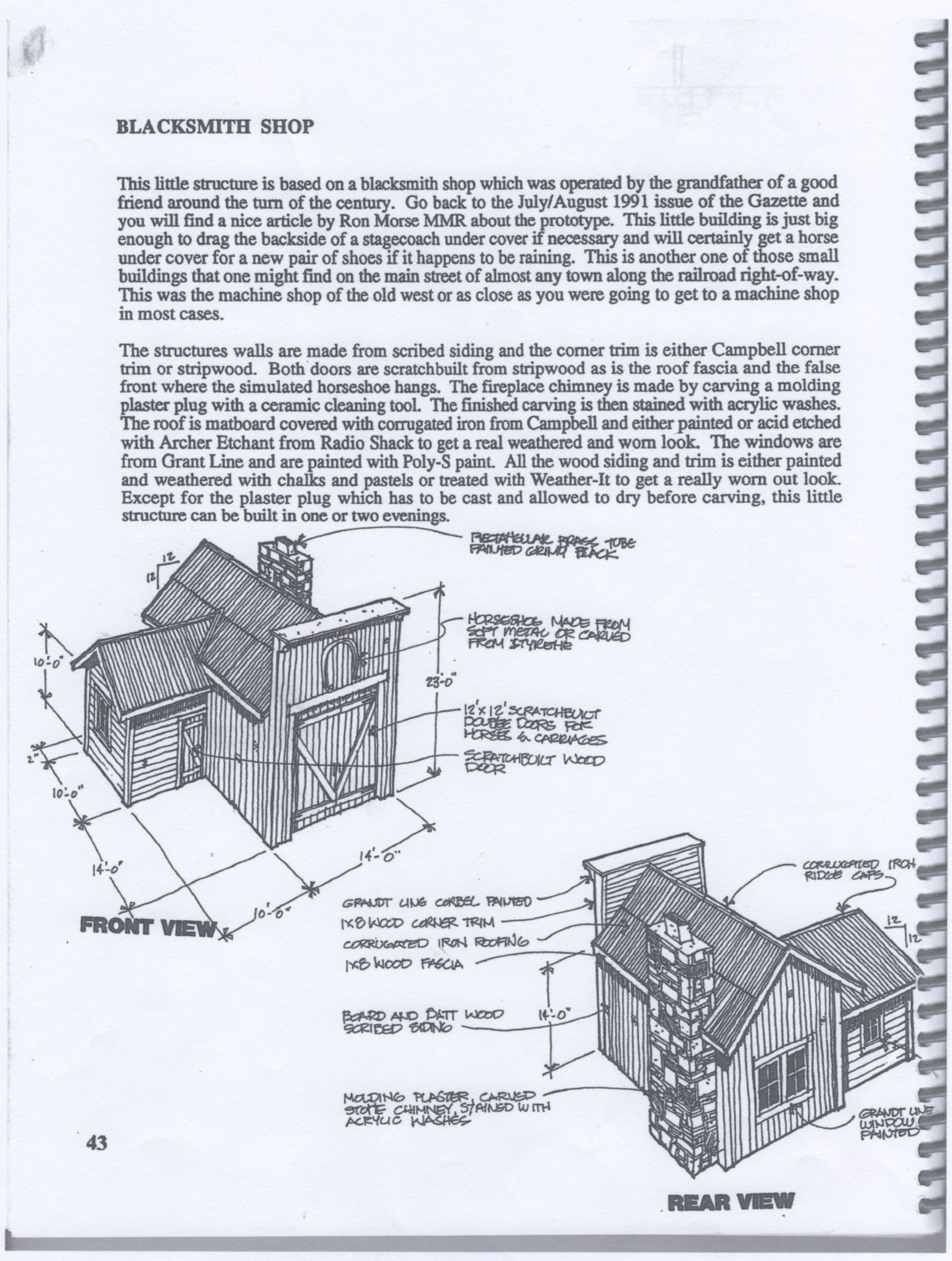 hight resolution of each project has an introductory page with a written description of the structure and an isometric sketch that has no scale