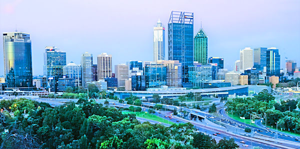 Perth skyline, Australia.