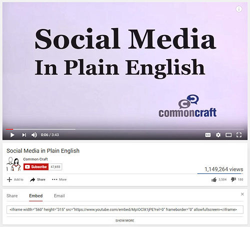 Embed code for the video 'Social Media in Plain English'