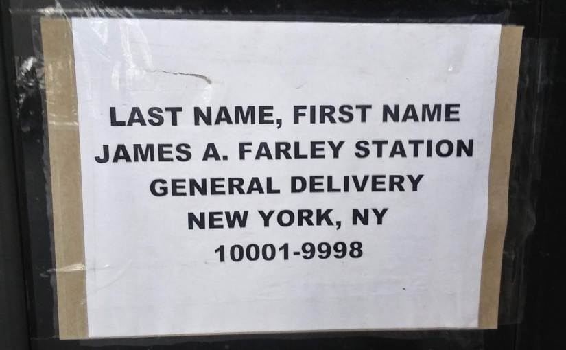 New York City mailing address for homeless people.