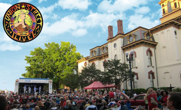 Free concert from 6 to 9 p.m. on the third Thursday May through August in Downtown Concord