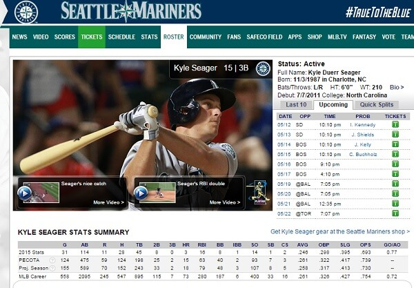 Kyle Seager with a couple highlights