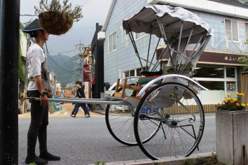 Tourist can take this Japanese Rickshaw.