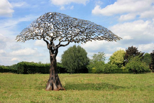 Outdoor Metal Tree Sculpture