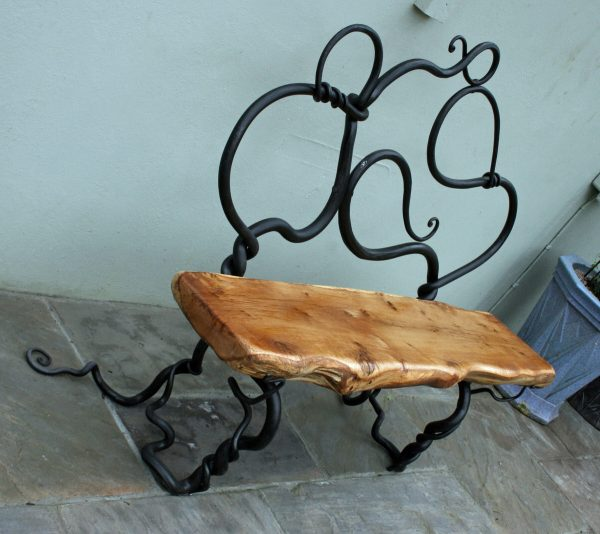 Rustic Bench and Table - Mark Reed Sculpture