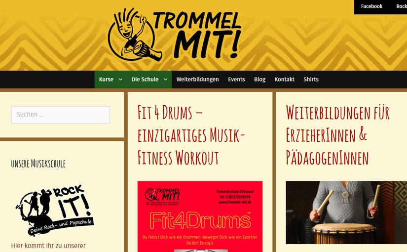 Relaunch der -Trommel Mit!- Webseite