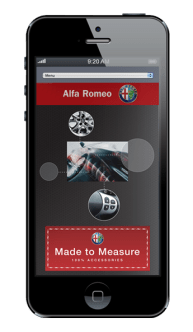 Alfa Romeo Intranet Website design on iphone
