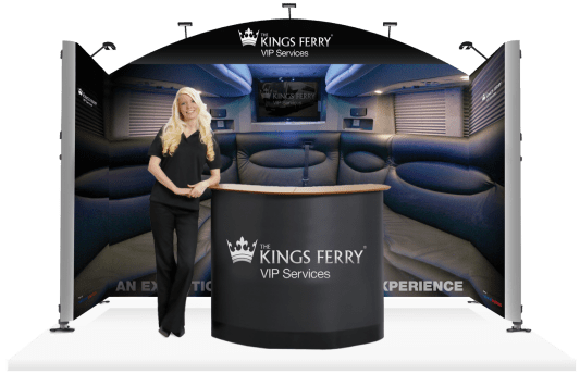 The Kings Ferry VIP Services Exhibition Stand design