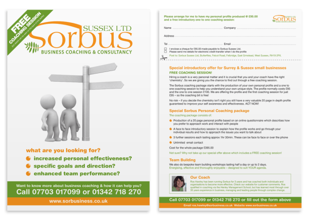 Sorbus Leaflet and Advert design