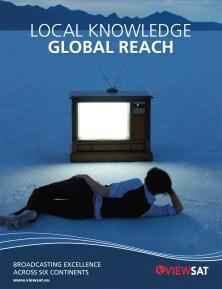Viewsat Global Reach Advert design