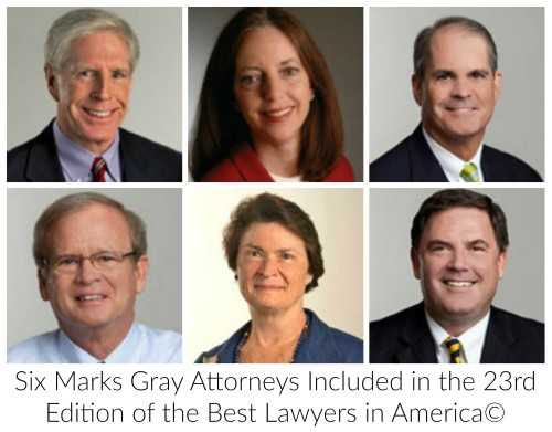 Best Lawyers 2017 from Marks Gray PA in Jacksonville FL