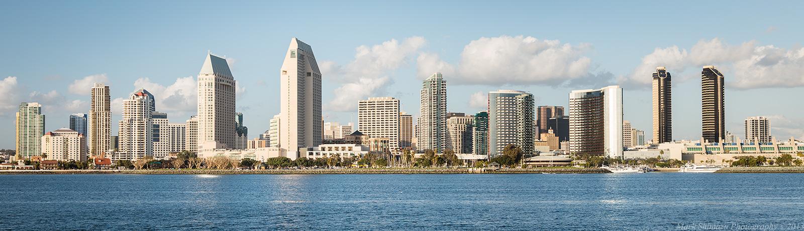 San Diego Skyline Three Different Looks Mark Shimazu