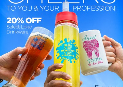 Cheers! Drinkware Promotion