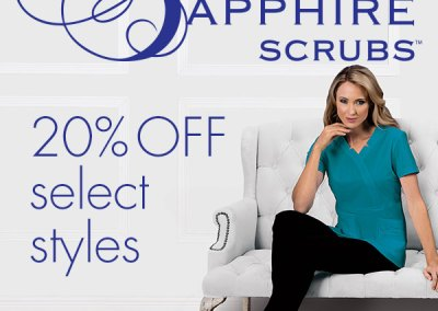 Sapphire Scrubs Promotion