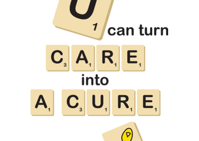 Scrabble-Inspired Childhood Cancer Awareness Design