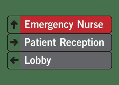 """Emergency Nurse"" Directional Sign Tee Shirt Design"