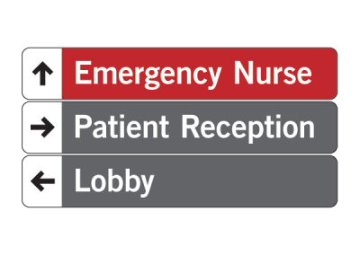 """Emergency Nurse"" Directional Sign Tee Shirt Design"