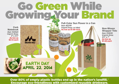 """Go Green"" Custom Promotional Items"