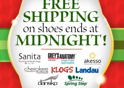 Shoes Holiday Free Shipping Promotion