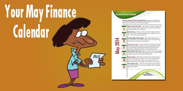 May Personal Finance Calendar
