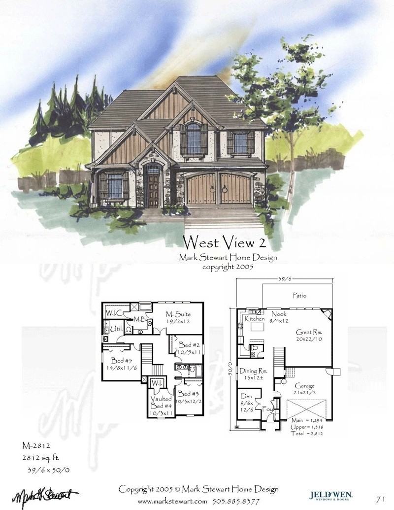 2812 house plan french country house plans old world for Old world home plans