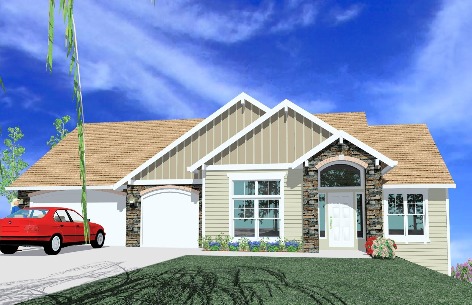 M 2957 house plan transitional house plans for Transitional house plans