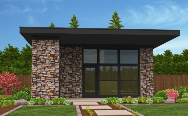 Lombard Studio Small House Plan Modern Small House Plans