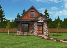 Montana Small Home Plan Lodge House Design With