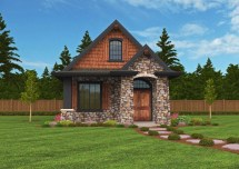 Montana House Plan Small Lodge Home Design With European