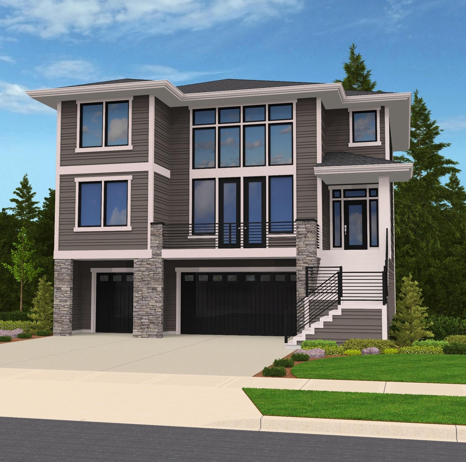 Hillside Plan With Garage Under 69131am