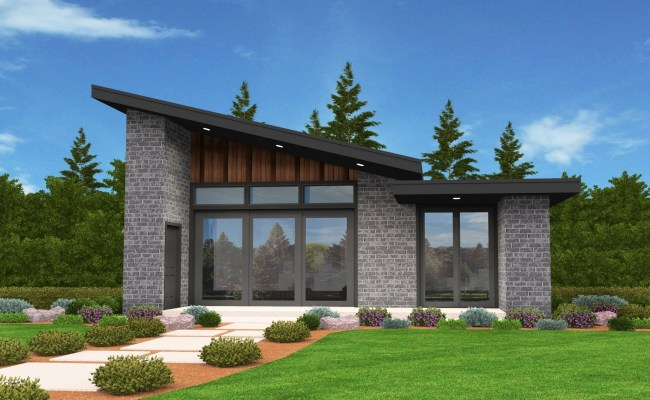 Mercury Small House Plan Modern Shed Roof Home Design