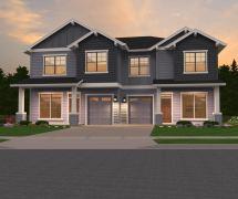 Glenview 1-2 House Plan Skinny Duplex Mark