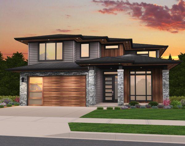Rosy House Plan Modern Two Story Mark Stewart