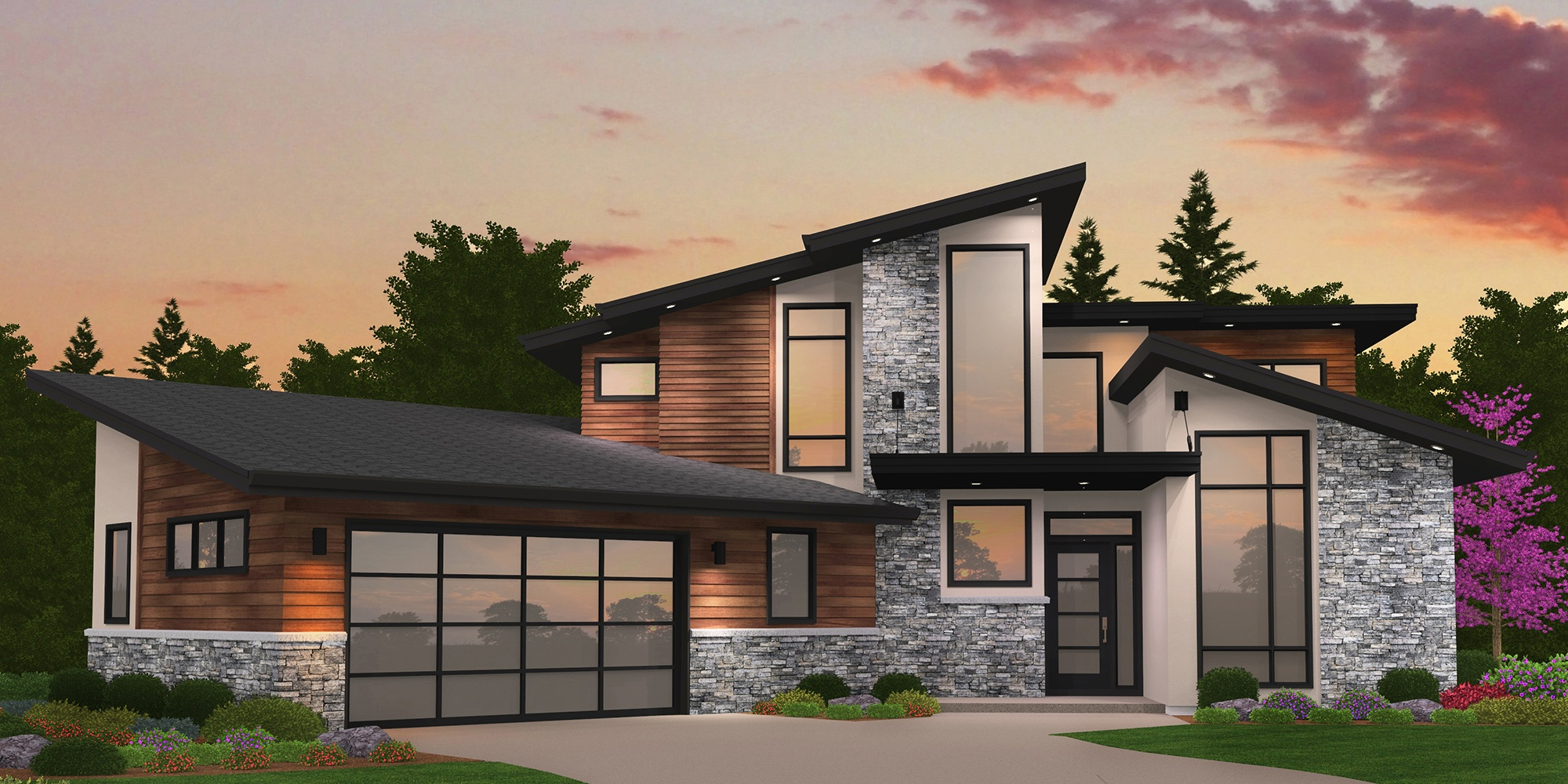 A Modern Empty Nester House Plan with unique and award ...