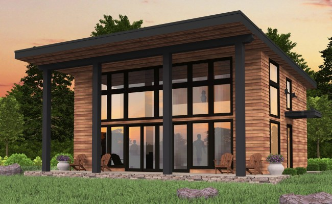 Bamboo Shed Roof Modern House Plan By Mark Stewart Home