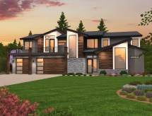 Blown Exciting Two Story Modern Home Design