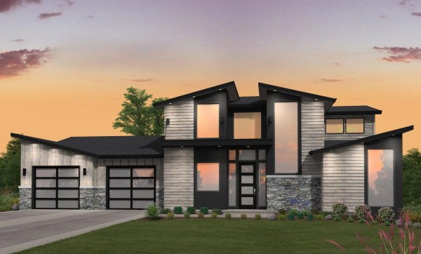 2 Story Modern House Plan With Main Floor Master Suite