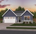 Rosewood Blue One Story Farmhouse