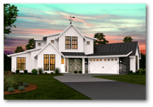 Sandridge Farmhouse Plan Modern Floor Plans