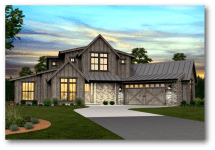 Pendleton Modern Farmhouse Plan Mark Stewart Home Design