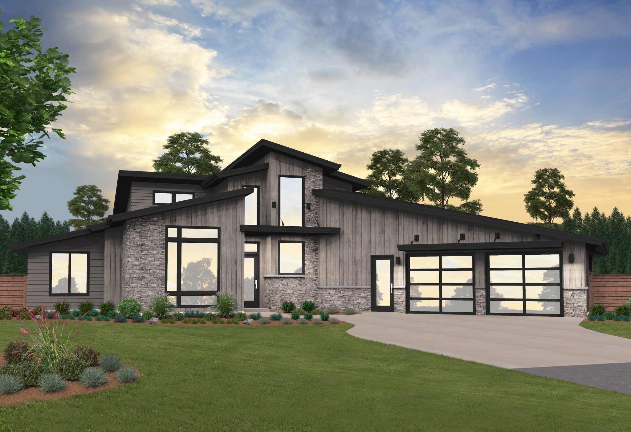 Two-Story Modern House Plan By Mark Stewart