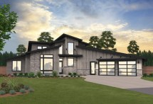Source Point Two-story Modern House Plan Mark Stewart