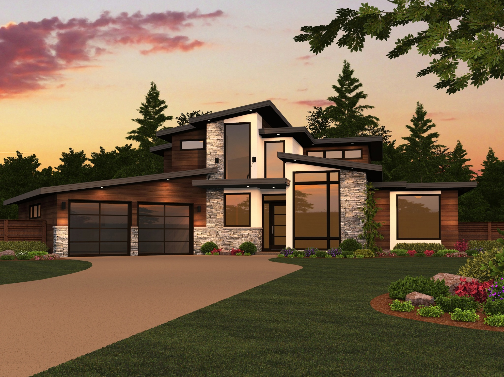 2 Story Modern House Design Plans With