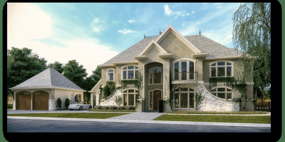 MIllman Old World Custom Home Design | Modern House Plans by Mark