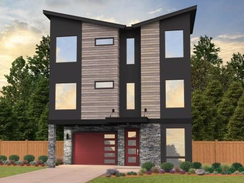 Skinny House Plans | Modern Skinny Home Designs & House
