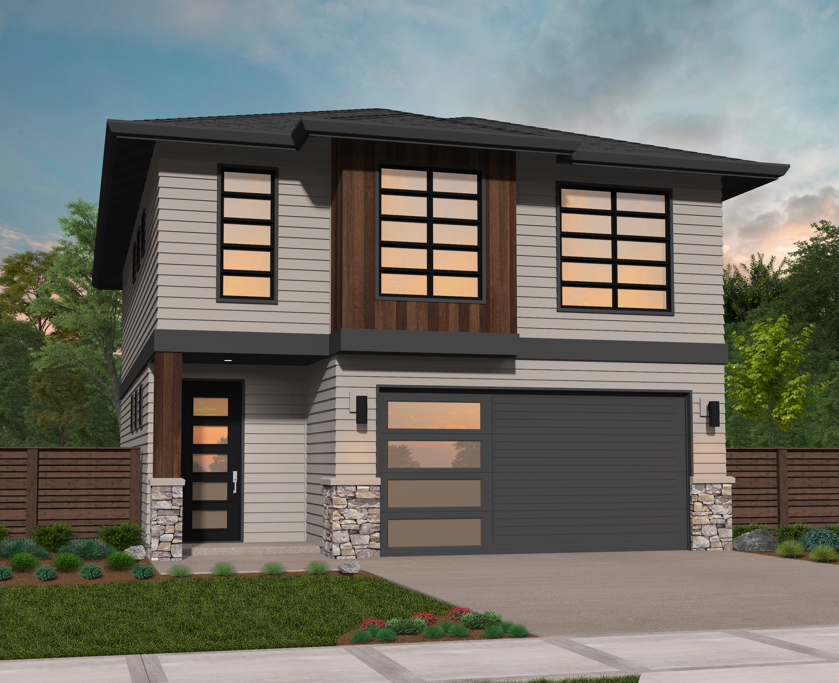 MM 1791 A. Modern Two Story Home ...