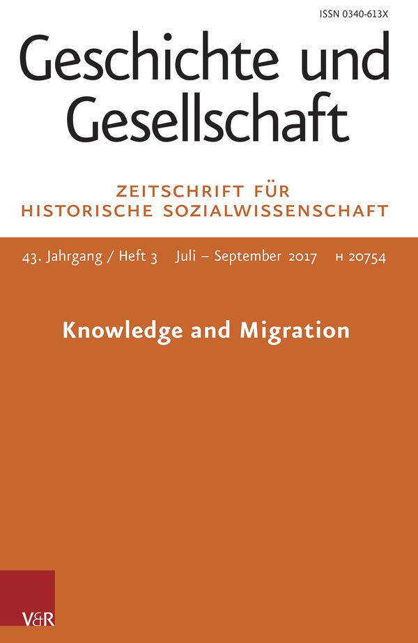 Knowledge and Migration (Special Issue)