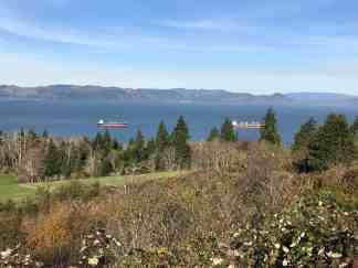 Columbia River (and Washington State behind it) from Coxcomb Hill, Astoria, Oregon
