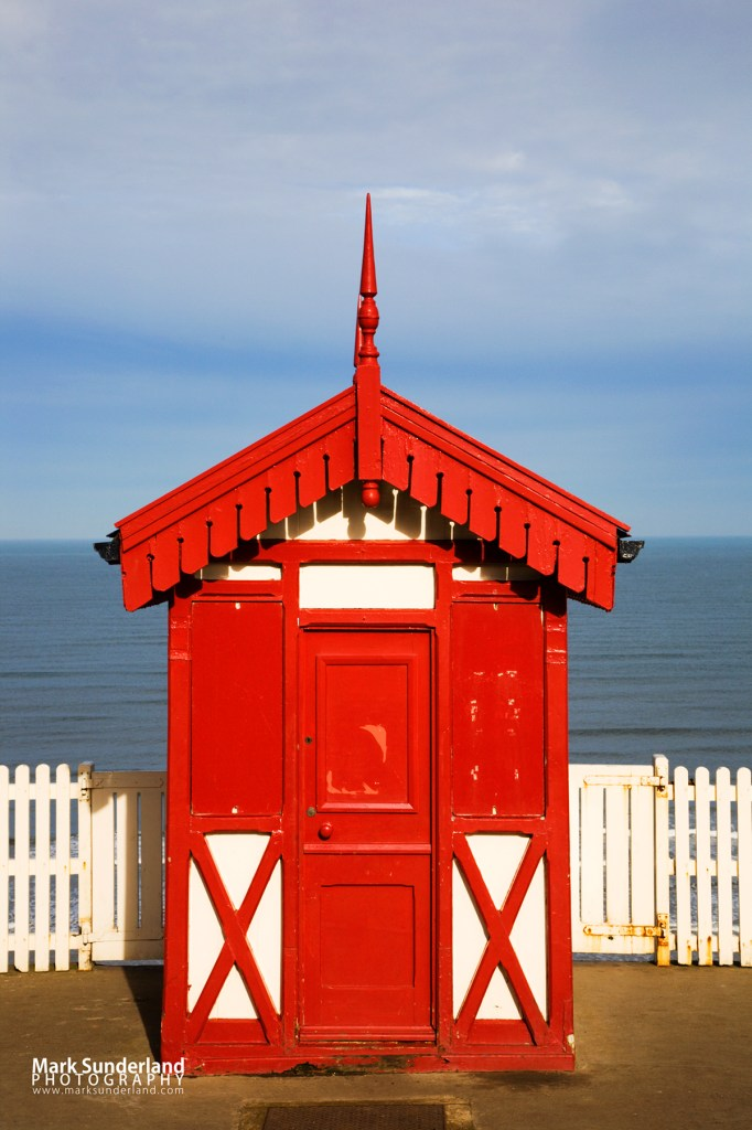 Cliff Tramway Kiosk in Winter, Saltburn by the Sea