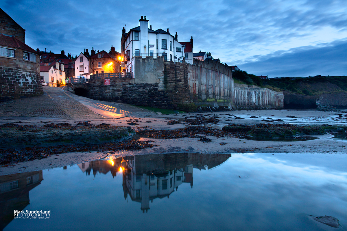 Early Morning Reflections at Robin Hoods Bay, Yorkshire Coast